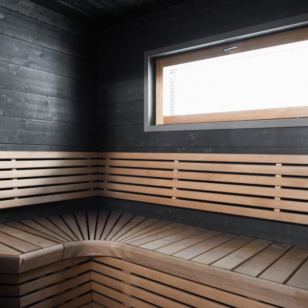 pearly grey structure panel for sauna and wet areas