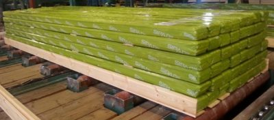 Siparila topcoat siding is packed in bundles