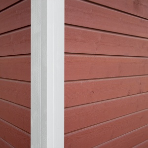 One piece corner for exterior siding