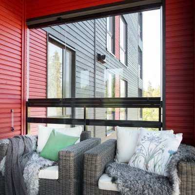 siding is ideal material in balconies